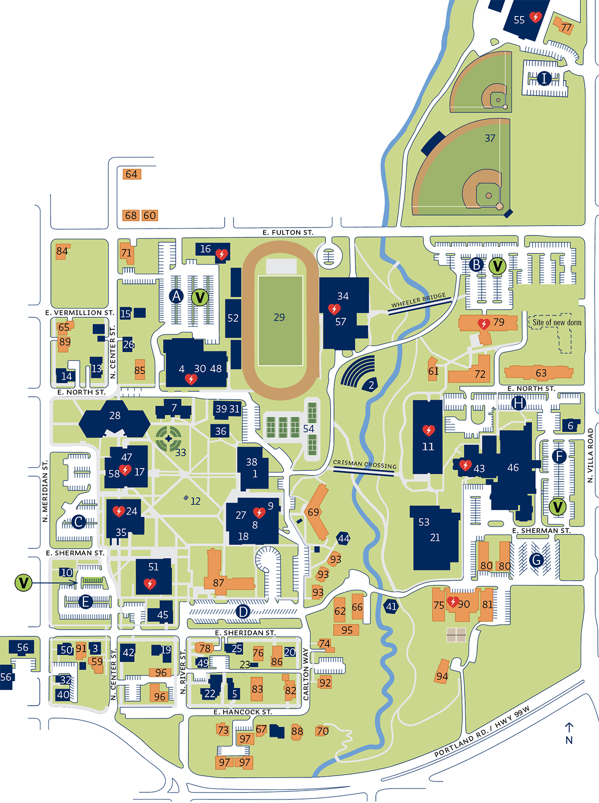 Campus Map | George Fox University on