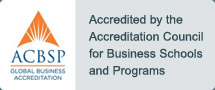 Accredited by the Accreditation Council for Business Schools and Programs