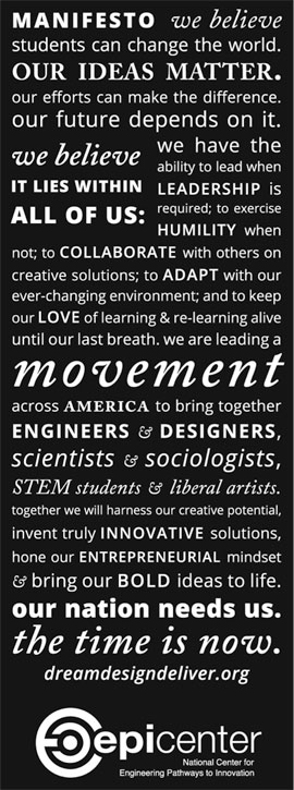 University Innovation Fellows manifesto
