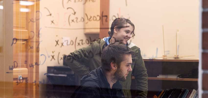 George Fox Mathematics majors study the discipline in a Christian environment.