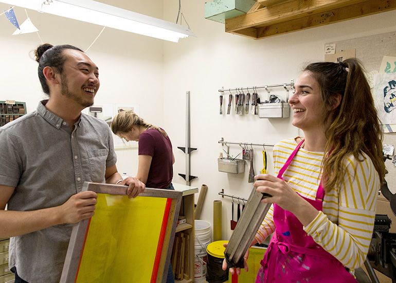 Studio Art majors at George Fox study at one of the West Coast's top Christian colleges