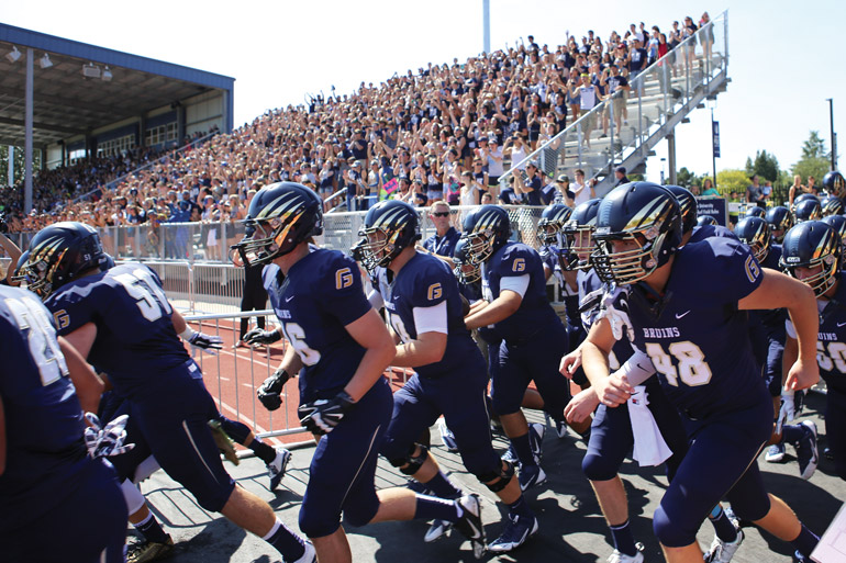 After months of construction, years of planning and more than four decades of anticipation, on Sept. 6, 2014, football finally returned to George Fox University.