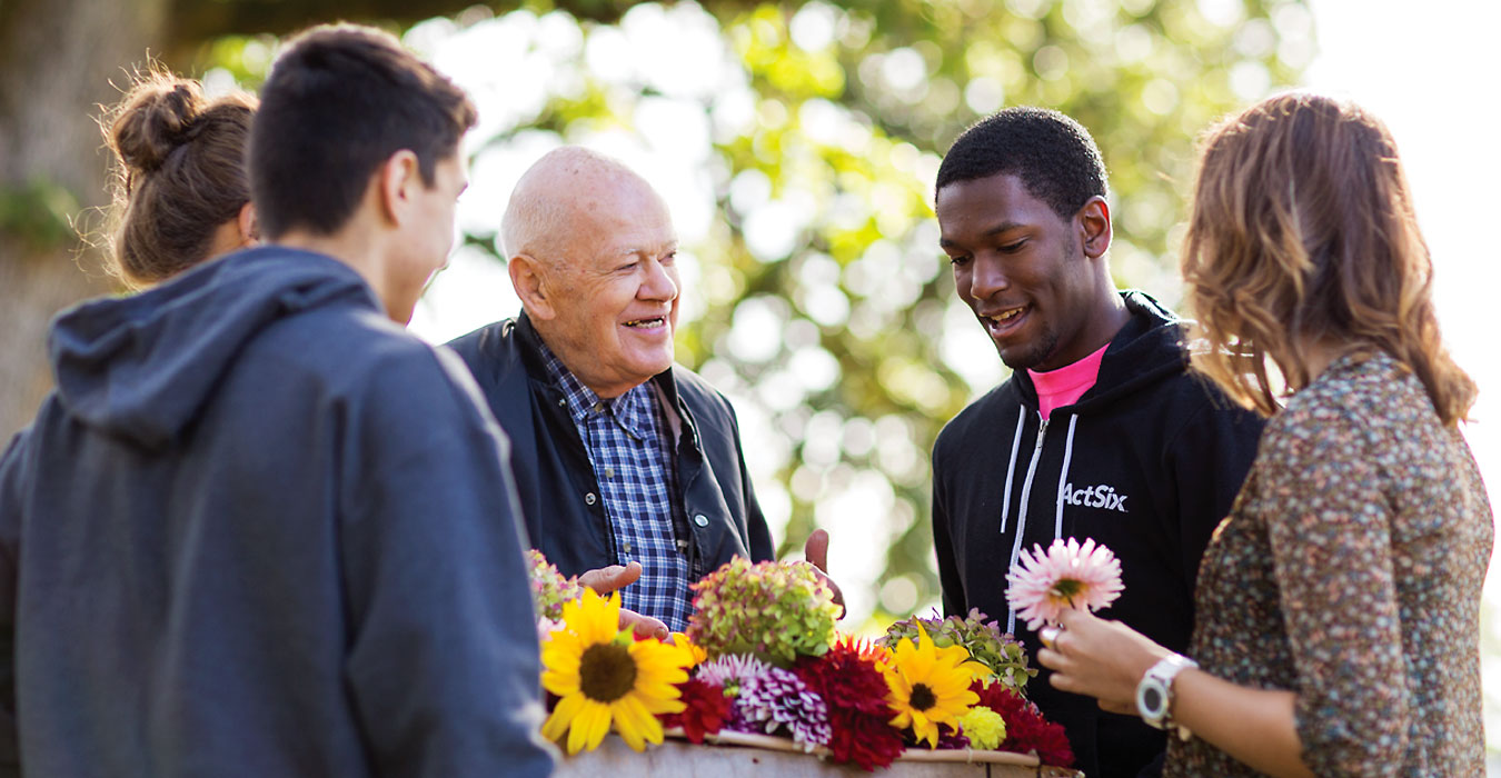 Roy Hiebert has delivered flowers and friendship to four decades of George Fox students