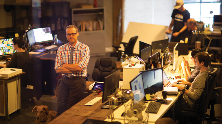 Watson and his now-18 employees occupy an expansive 3,500-square-foot office in North Portland near the Moda Center.