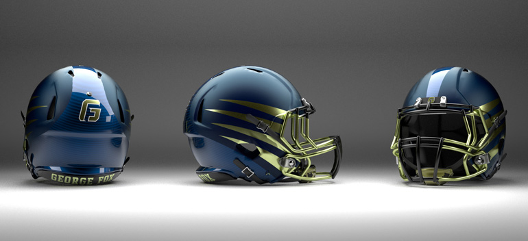 George Fox Football Helmet