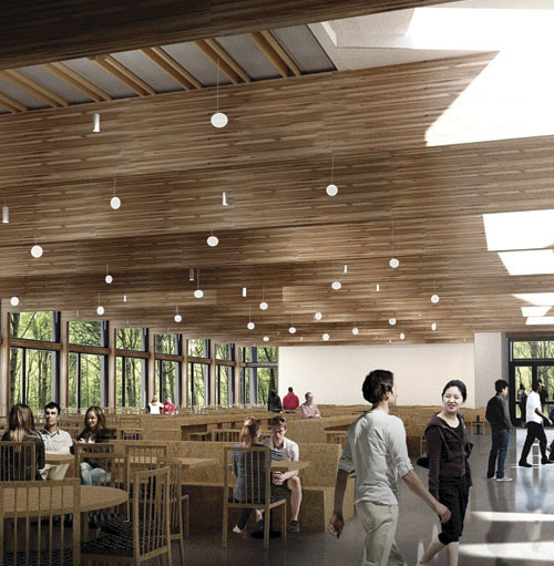 new dining hall interior