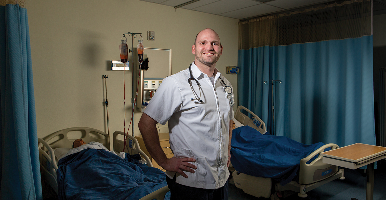 Chris Richey plans to use his George Fox nursing degree to help war veterans