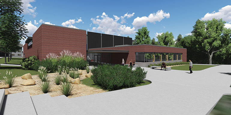 Rendering of the Student Activity Center