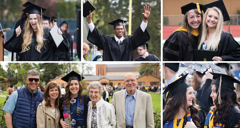 Celebration at George Fox University Commencement